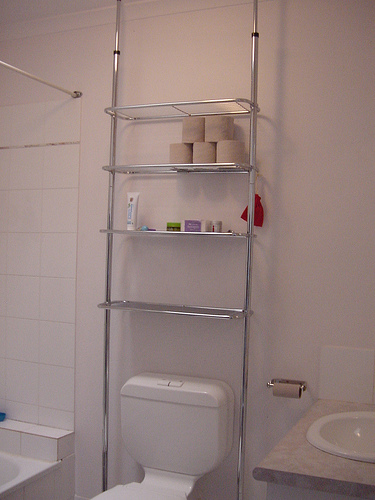 Estantes Para El Baño:Bathroom Storage Behind Toilet