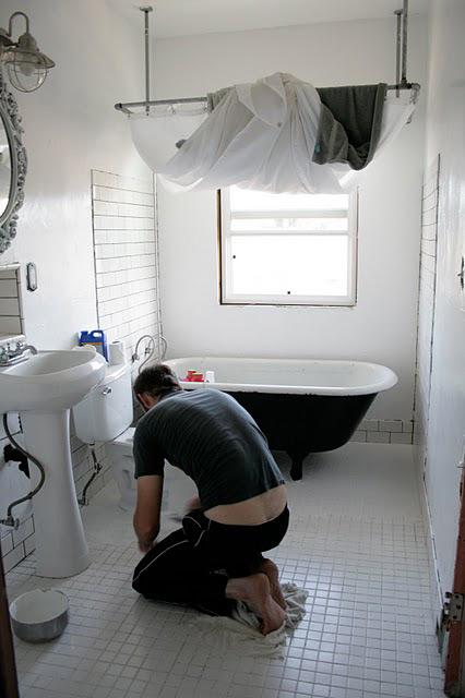 Cortinas De Baño Vintage:Baño Vintage de ejecución propia